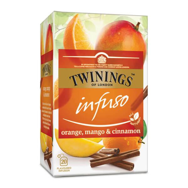 Чай Twinings Infuso Портокал, манго и канела 20 филтър пакетчета х 2гр.