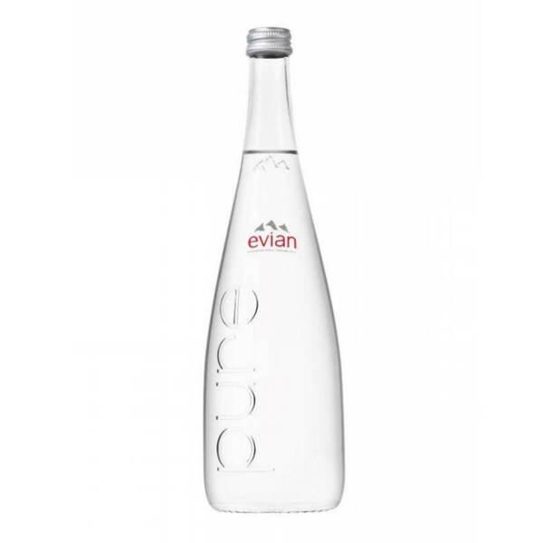 Вода Евиан стъклена бутилка 750мл.