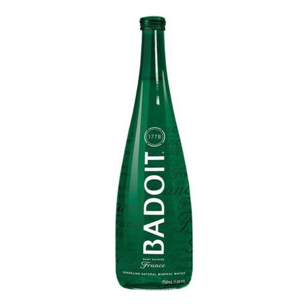 Естествено газирана минерална вода Badoit стъклена бутилка 750мл.