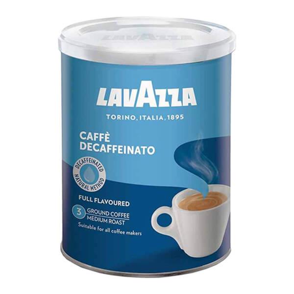 Мляно безкафеиново кафе Lavazza Decaffeinato в метална кутия 250гр.