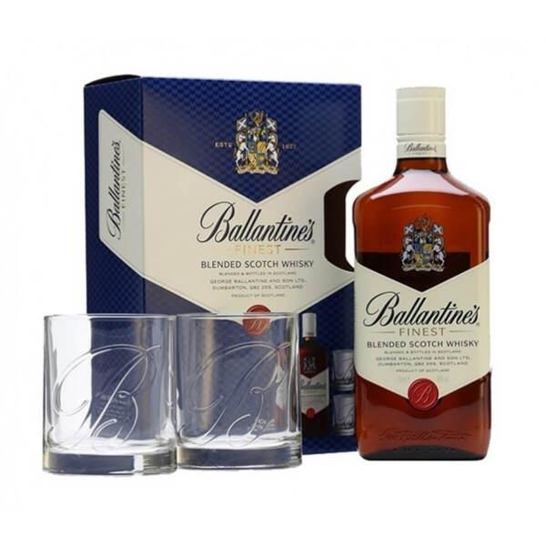 Ballantine's Finest в комплект с 2 чаши 700ml.