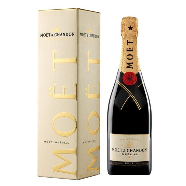 Шампанско Моет и Шандон Империал Брут в кутия, 0.75л.