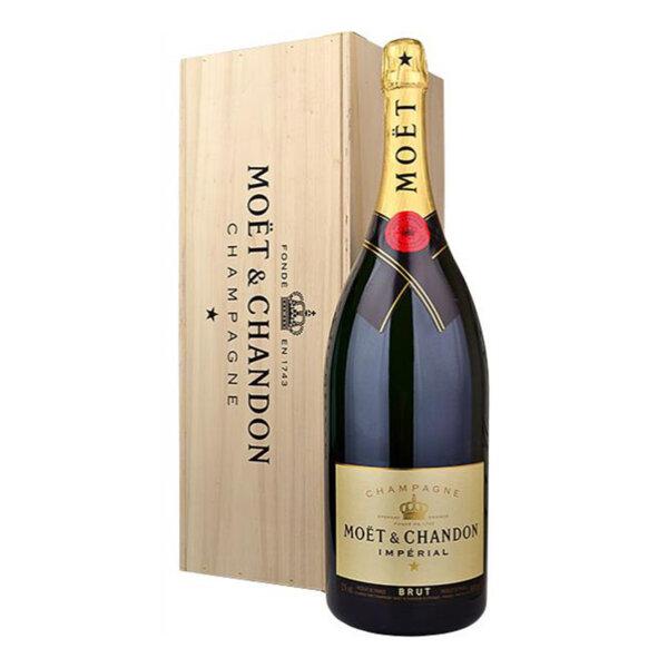 Шампанско Моет и Шандон Империал Брут Mathusalem - Дървена кутия, 6л.