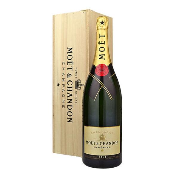 Шампанско Моет и Шандон Империал Брут Джеребом в кутия, 3л.