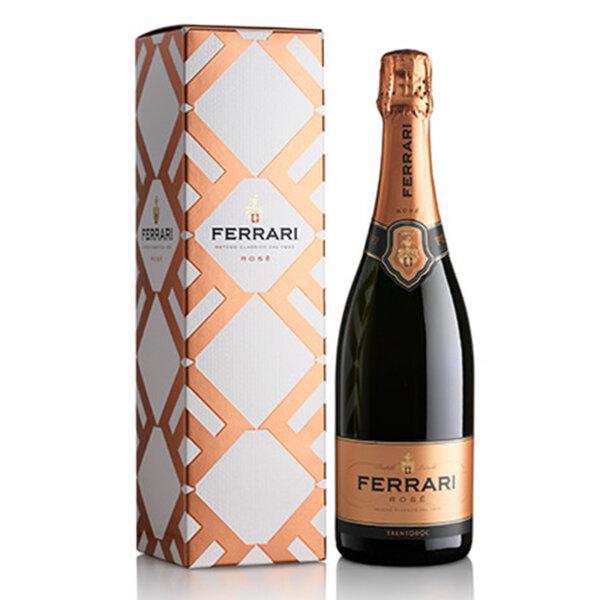 Пенливо вино Ферари Лунели Розе с подаръчна кутия NV, 0.75л.
