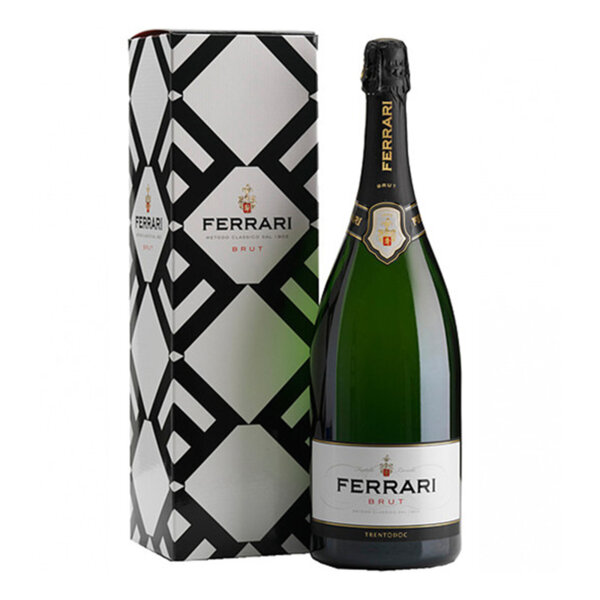 Пенливо вино Ферари Лунели Брут Магнум с подаръчна кутия NV, 1.5л.