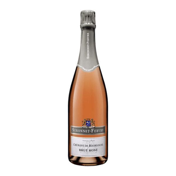 Пенливо вино Симоне-Февр Креман де Бургон Брут Розе NV, 0.75л.