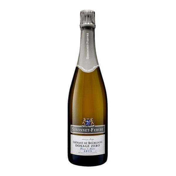 Пенливо вино Симоне-Февр Креман де Бургон Дозаж Зеро Блан де Блан 2013, 0.75л.