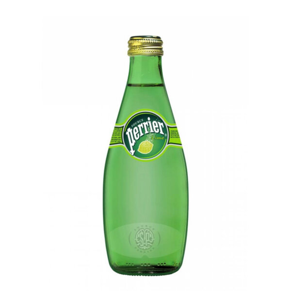 Газирана минерална вода Перие Лайм стъклена бутилка 330мл.
