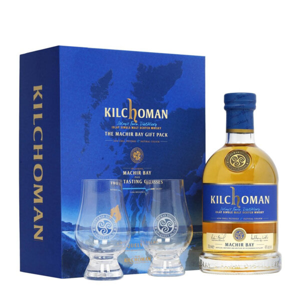 Kilchoman Machir Bay в комплект с 2 чаши 700ml.