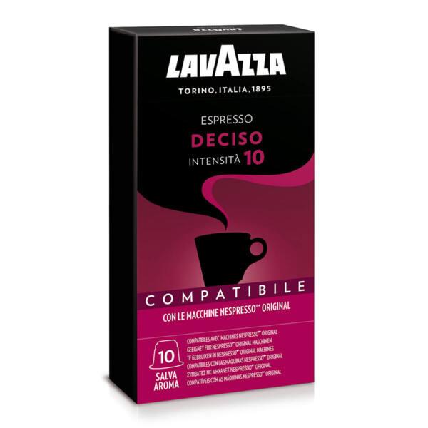 Кафе на капсули Lavazza Deciso съвместими с Nespresso 10 бр.