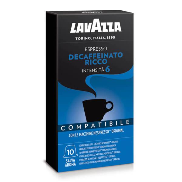 Кафе на капсули Lavazza Ricco безкофеиново съвместими с Nespresso 10 бр.