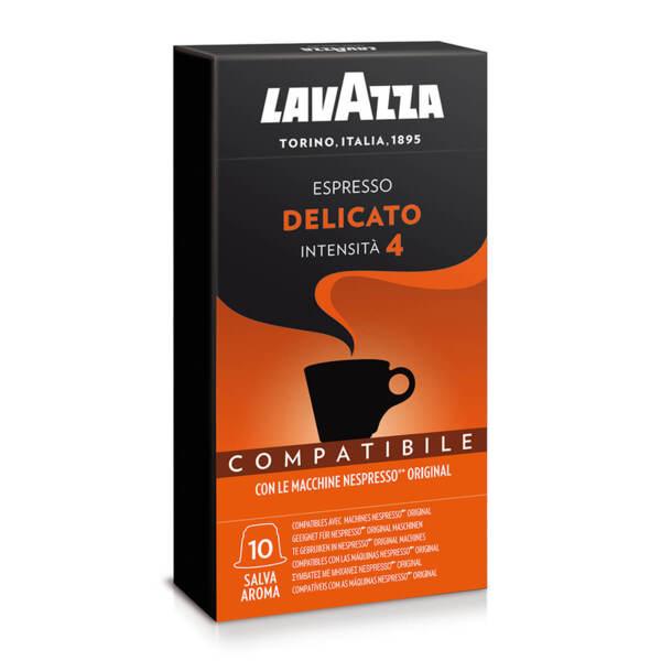 Кафе на капсули Lavazza Delicato съвместими с Nespresso 10 бр.