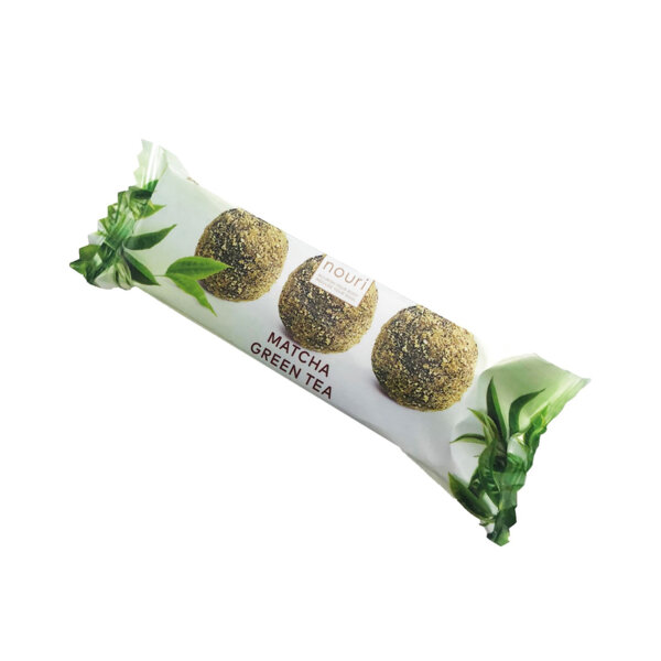 Здравословни веган бонбони Nouri трюфел със зелен чай Матча 3бр.