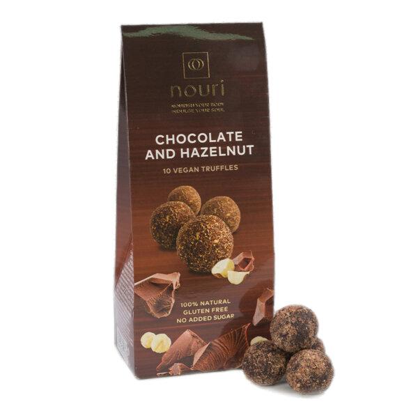 Здравословни веган бонбони Nouri трюфел с шоколад и лешници 10бр.