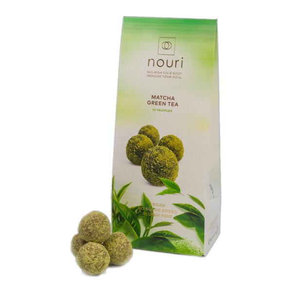 Здравословни веган бонбони Nouri трюфел със зелен чай Матча 10бр.