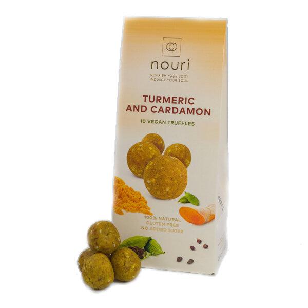 Здравословни веган бонбони Nouri трюфел с куркума и кардамон 10бр.