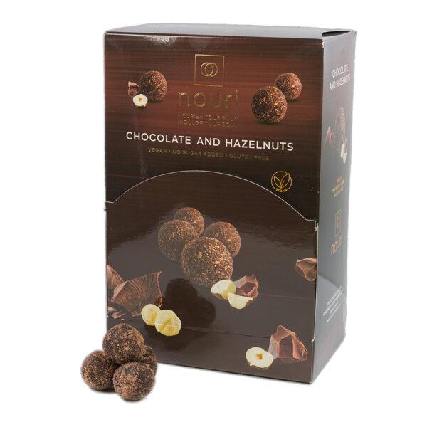 Здравословни веган бонбони Nouri трюфел с шоколад и лешници 100бр.