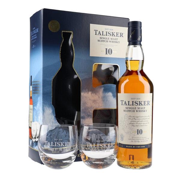 Talisker 10 Y.O. в комплект с 2 чаши 700ml.