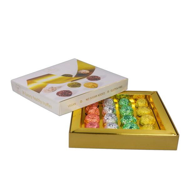 Здравословни веган бонбони Nouri трюфел Луксозна кутия 16бр.