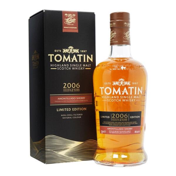 Tomatin 12 Y.O. Amontillado Sherry Cask 700ml.