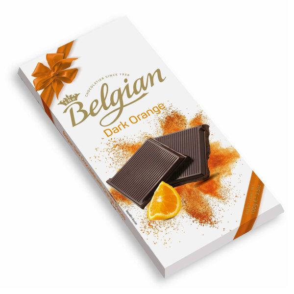 Тъмен шоколад с портокал The Belgian 100 гр.