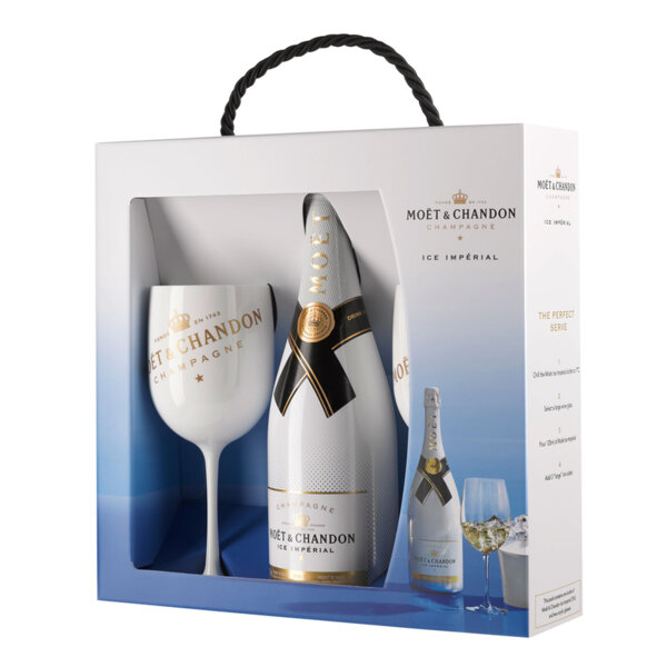 Шампанско Моет и Шандон Айс Империал с две чаши, 0.75л.