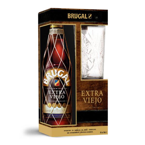 Ром Brugal Extra Viejo с коктейлна чаша 700ml.