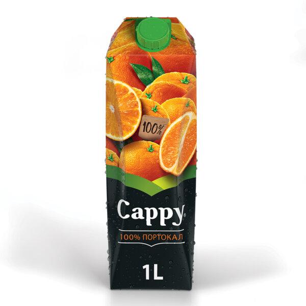 Натурален сок Cappy Портокал 100% 1.0л.