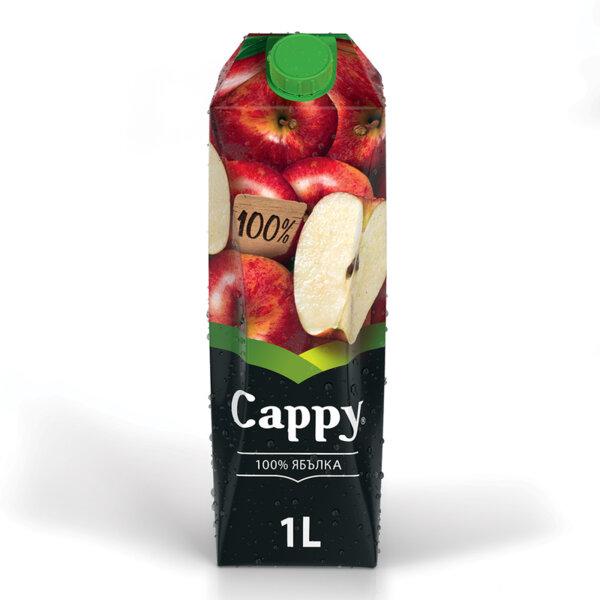 Натурален сок Cappy Ябълка 100% 1.0л.