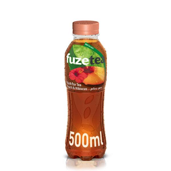 Студен чай Fuzetea праскова и хибискус бутилка PET 500мл.