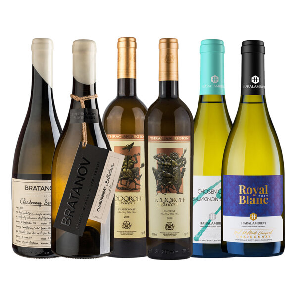 Промо пакет бели вина от Братанов, Тодоров и Хараламбиеви