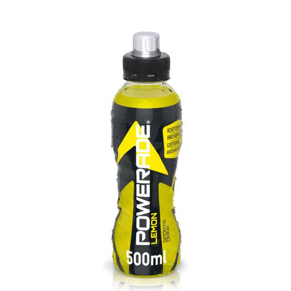 Енергийна напитка Powerade Lemon бутилка PET 500мл.