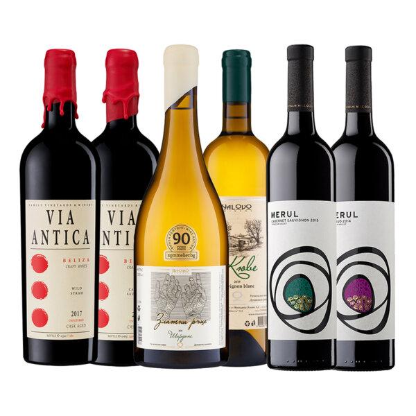 Промо пакет бели и червени вина от Виа Антика, Ялово и Румелия