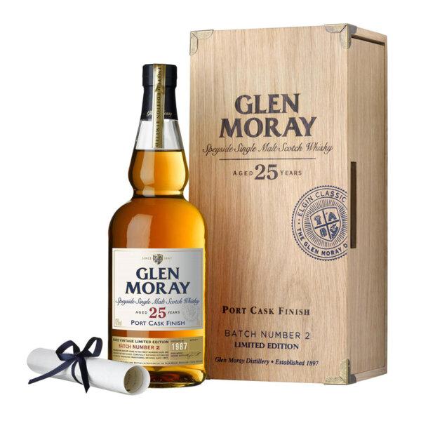 Glen Moray Port Cask Finish 25 Y.O. 700ml.