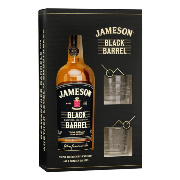 Jameson Black Barrel с две чаши 700мл.