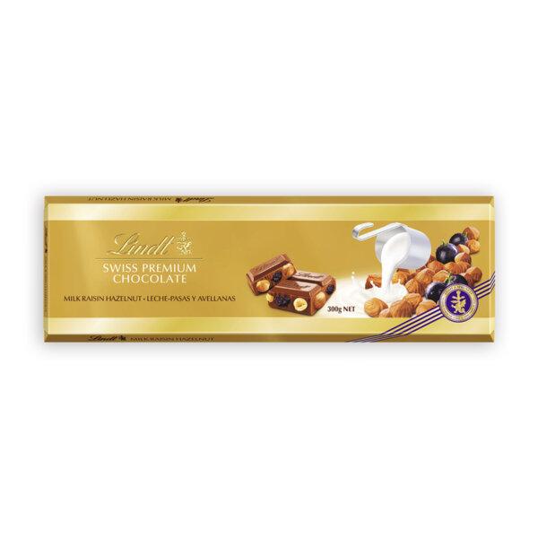 Шоколад Lindt стафиди и лешници 300 гр.