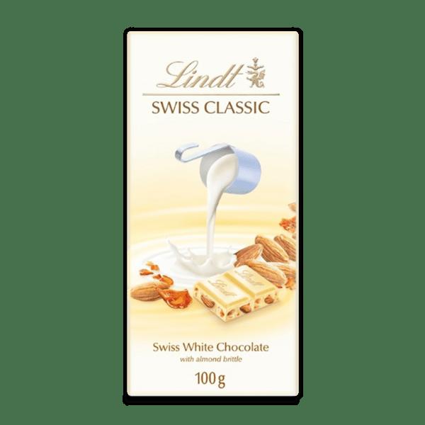 Шоколад Lindt Класик бял с цял бадем 100 гр.