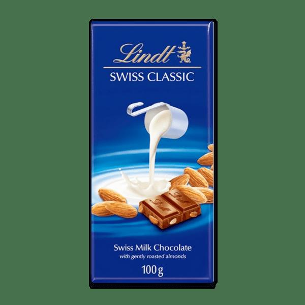 Шоколад Lindt Класик млечен цял бадем 100 гр.