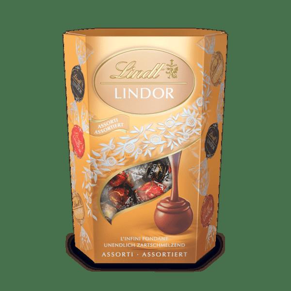 Шоколадови бонбони Lindt Линдор Корнет Асорти 200 гр.