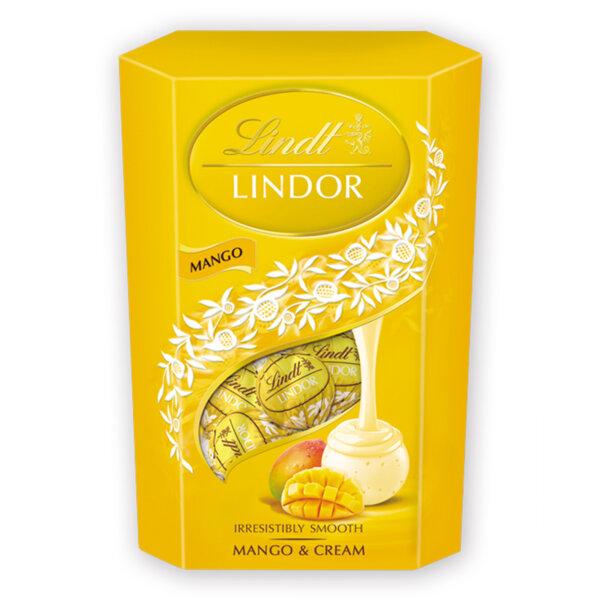 Шоколадови бонбони Lindt Линдор Корнет манго и сметана 200 гр.