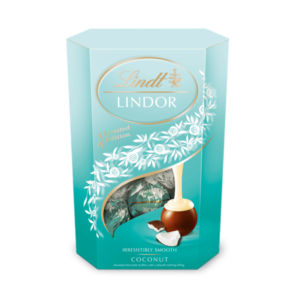Шоколадови бонбони Lindt Линдор Корнет кокос 200 гр.