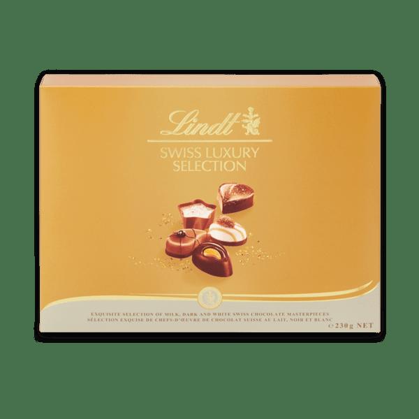 Шоколадови бонбони Lindt бонбониера Суис лъкшъри колеклшън 230 гр.
