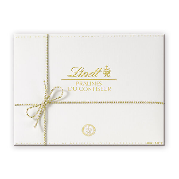 Шоколадови бонбони Lindt бонбониера Голд Уайт 500 гр.