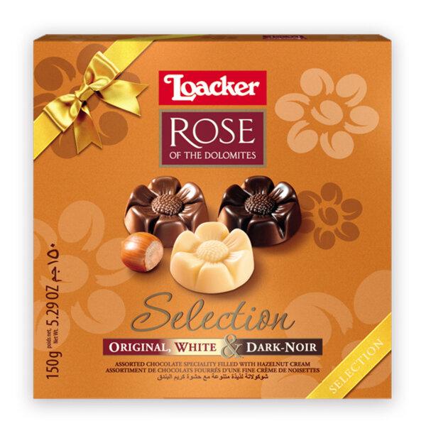Шоколадови бонбони Loacker бонбониера Роза асорти 150 гр.