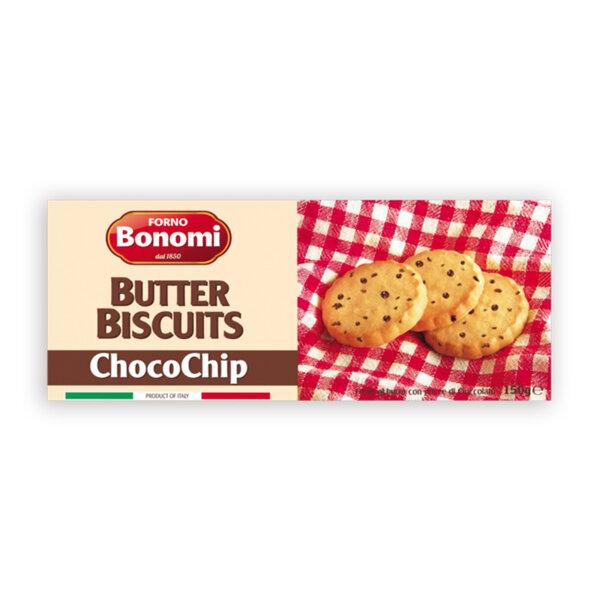 Бисквити Бономи с масло и парченца шоколад 150 гр.
