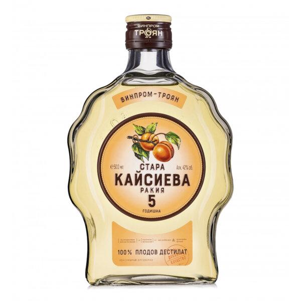 Ракия Стара Кайсиева 5г. Винпром Троян 500мл.