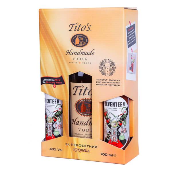 Водка Tito's в комплект за коктейл Bloody Mary 700мл.