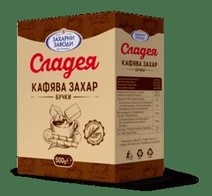 Сладея кафява захар на бучки 500g - 32 артикула в пакет