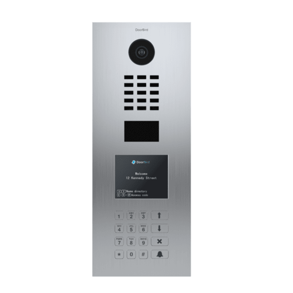 DoorBird - Вертикален IP Smart видеодомофон с дисплей, клавиатура и  RFID
